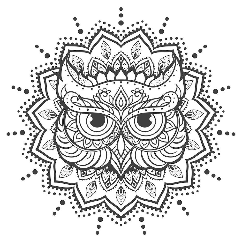 mandalas de buhos para colorear | COLORiNG OWLS | Tattoo images