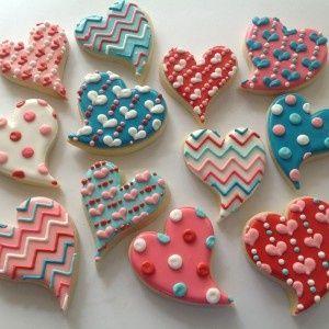 Funky Valentine Cookies