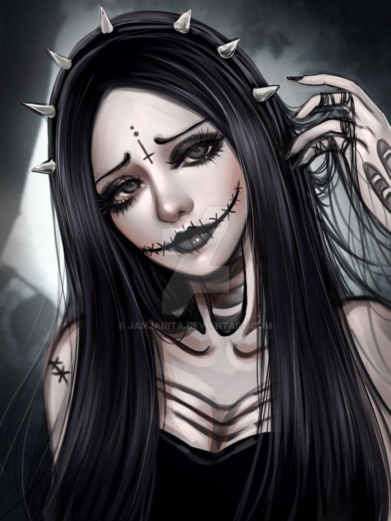 Premade 0000263 By Https Www Deviantart Com Janjanita On Deviantart Badass Drawings Gothic Fantasy Art Digital Art Girl
