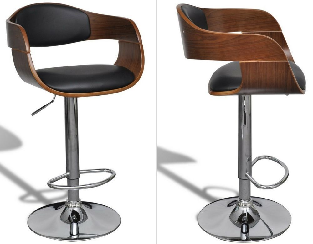 Magnificent Vintage Retro Bar Stool Black Swivel Wooden Metal Breakfast Ibusinesslaw Wood Chair Design Ideas Ibusinesslaworg