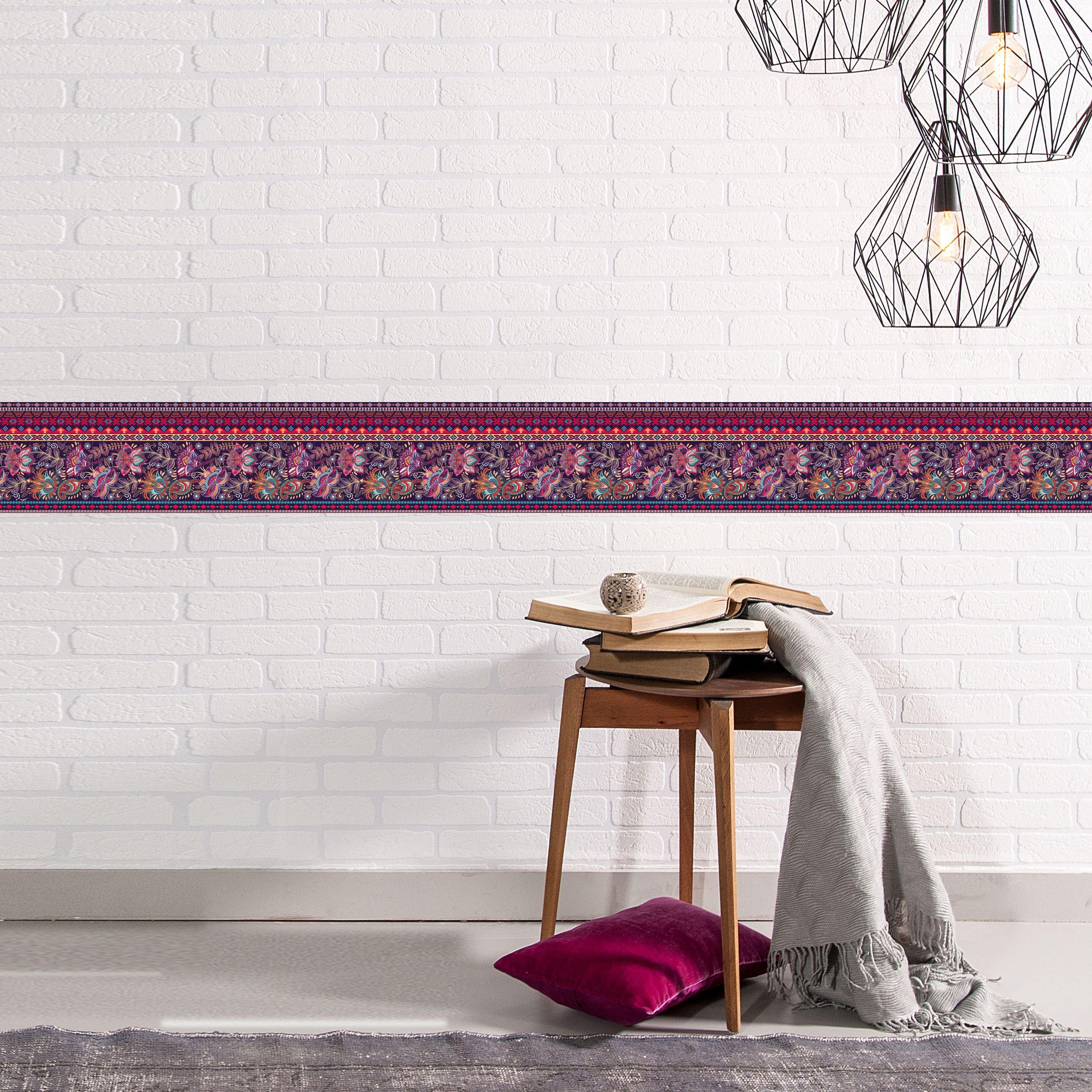 Unsere Qualitats Borduren Mit Dekorativen Mustern Und Farben Verschonern Deine Raume Und Wirken Wie Ein K Tapeten Borduren Selbstklebende Bordure Wandaufkleber