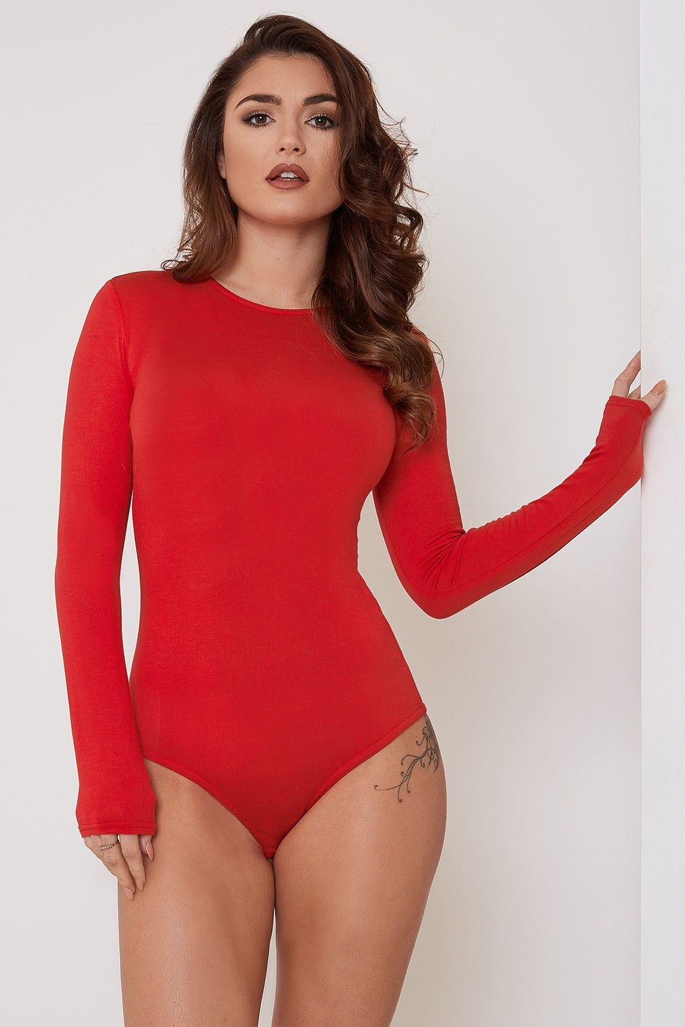 Minimal Effort Long Sleeved Bodysuit Red - Bodysuits - Shop by Category -  Clothing  27d224b19