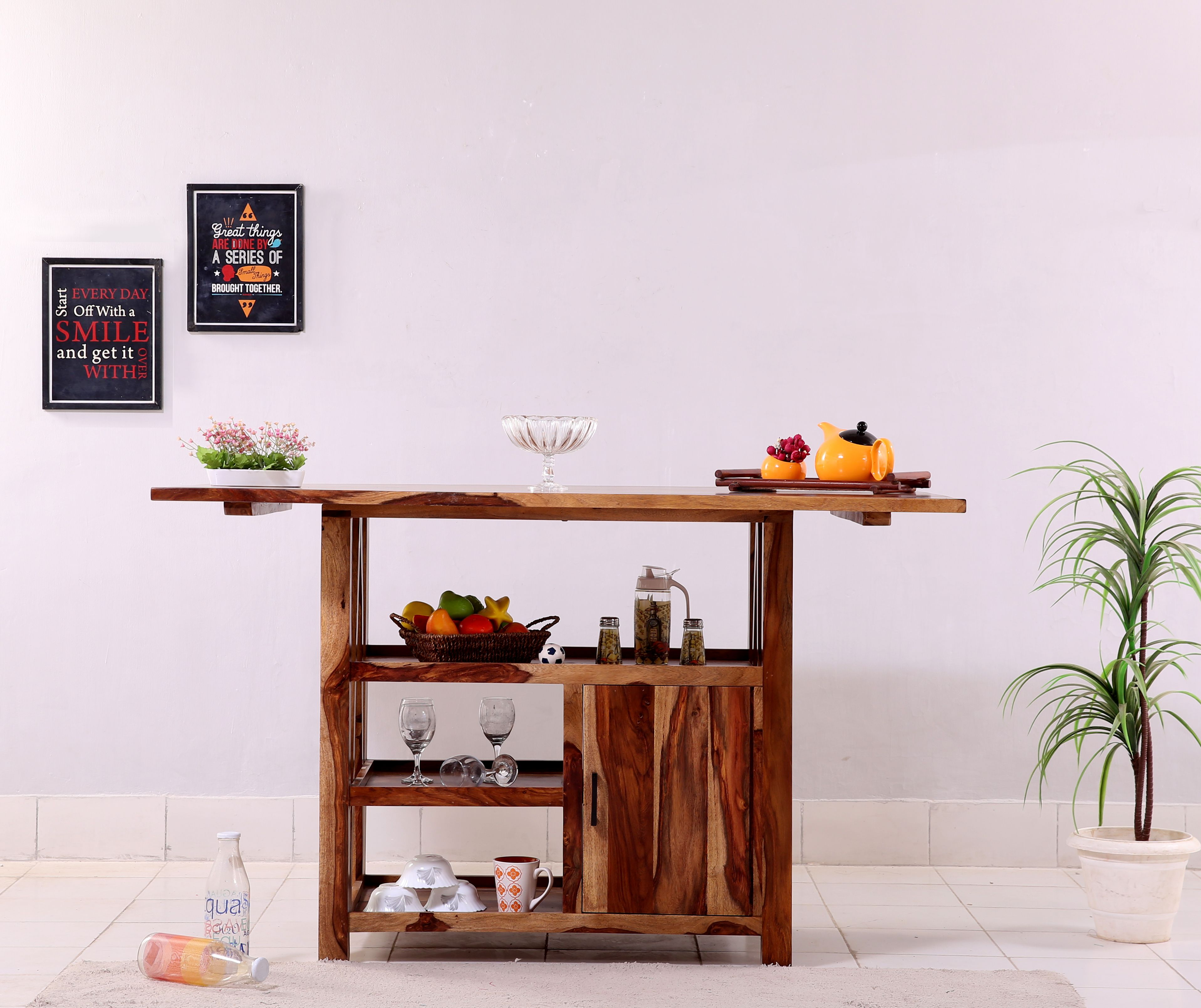 Buy Trudy Kitchen Island Online In India Wooden Street Wooden Street Kitchen Island Wooden