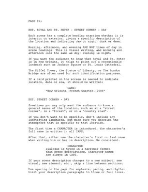 feature film script format storytelling pinterest script