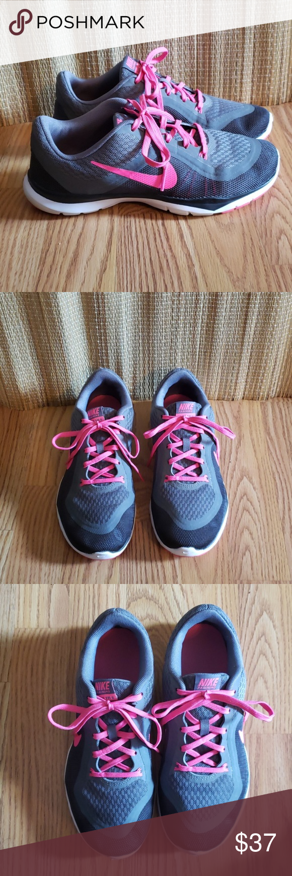 Gray and pink, Nike Training Flex TR6