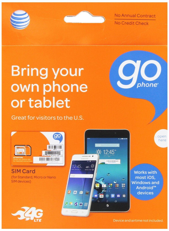 Att microsim starter kit for gophone devices no annual