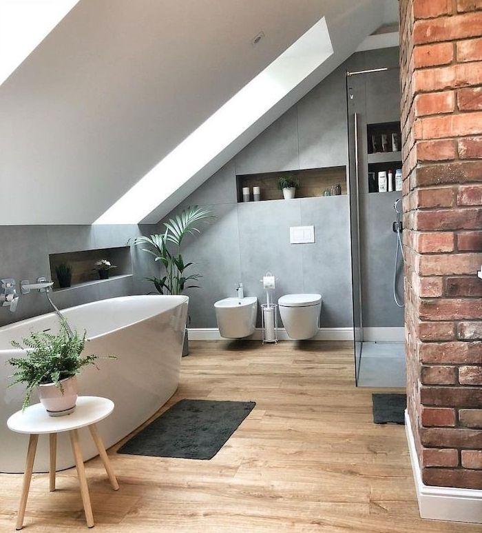 ▷ 97 salles de bain sous comble | Tendances pour 2019 | ArchzineFR