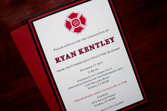 Fire Academy Graduation Invitation