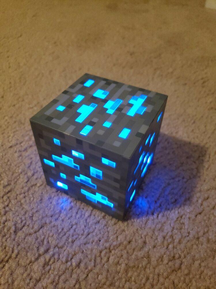 Minecraft Block Night Light Cube 2012 Blue Minecraft