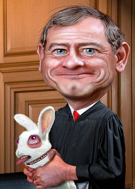 Image result for john roberts caricature