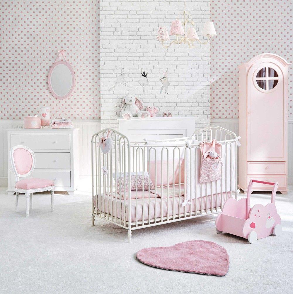 Miroir ovale en bois rose H 55 cm VICTORINE | Maisons du Monde ...
