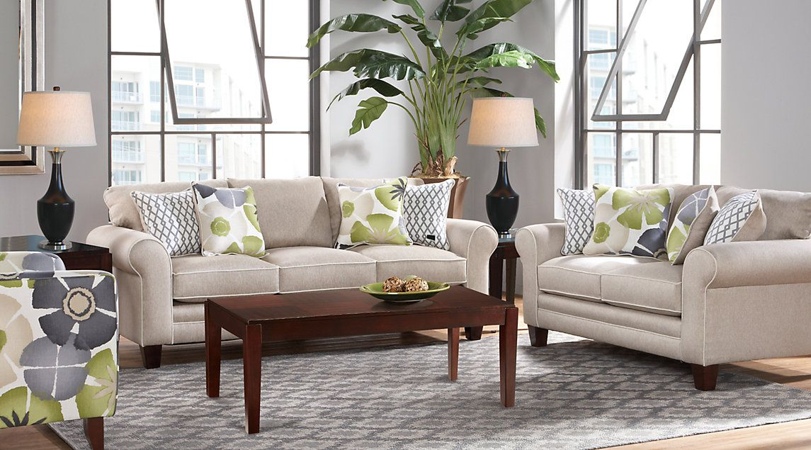 Lilith Pond Taupe Sofa Loveseat And 3 Table Set $98800  Rooms Glamorous Affordable Living Room Designs Review