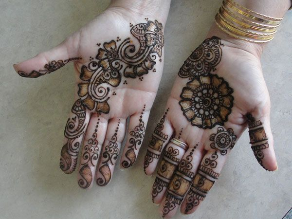 Mehndi Palm Arabic Designs : Henna diagonal palm design web inspiration pinterest