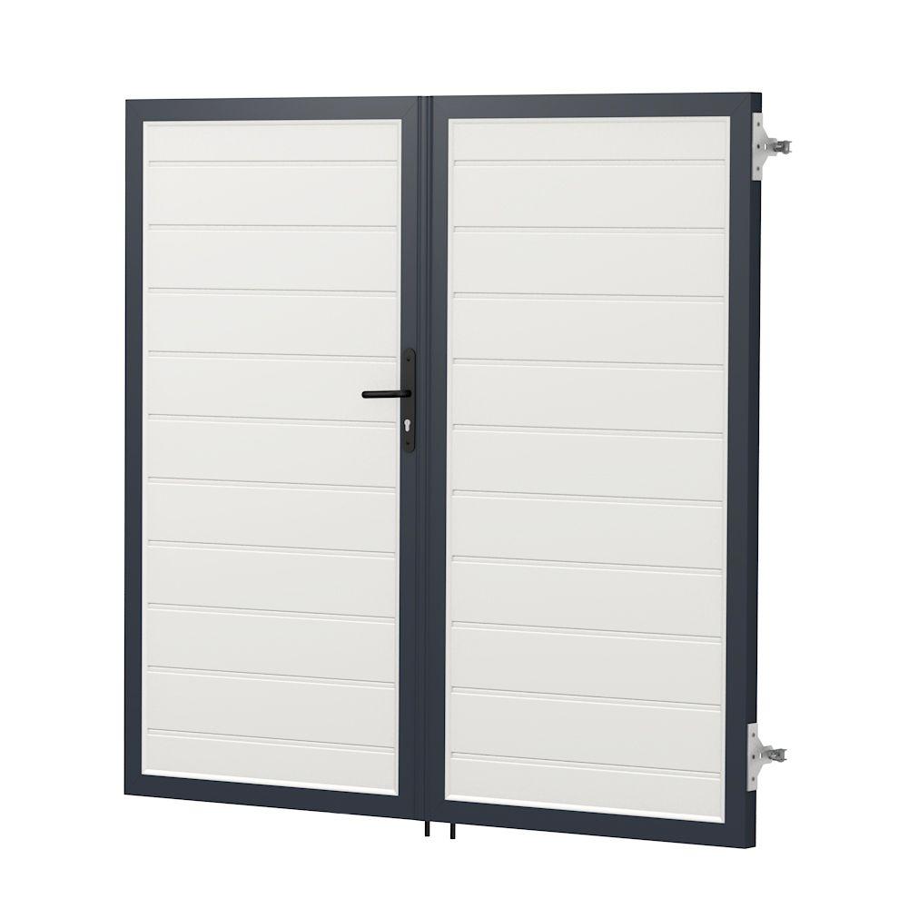 ECOline privacy screen double door seal |  PVC plastic – white -…