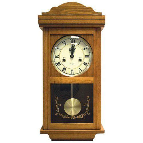 Beautiful Wood Clock Beautiful Kassel 15 Day Wood Wall Pendulum Clock With With Images Pendulum Clock Wall Clock Clock