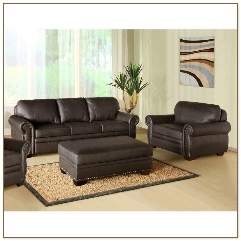 Leather Sofa And Loveseat Combo With