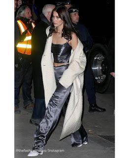 Celebrity Style | 海外セレブリティ最新スタイル情報 : 【ベラ・ハディッド】少しナーバス気味?VSショー直前のスタイリッシュなサテンのセットアップスタイルの...
