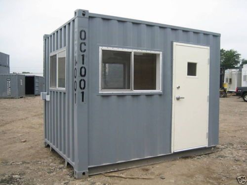 10 By 8 Guard Booth Office Container Great Condition Container Conditioner Office