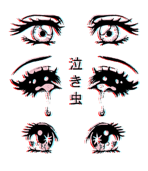Scary drawing cute eyes anime kawaii horror manga pastel alternative transparent pastel goth cute face anime
