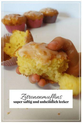 Backen mit Kindern - saftige Zitronenmuffins #cupcakesrezepte