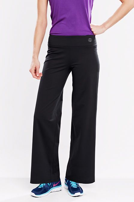 9927f9000f934 Wide leg. Women's Solid Relaxed Performance Pants from Lands' End ...