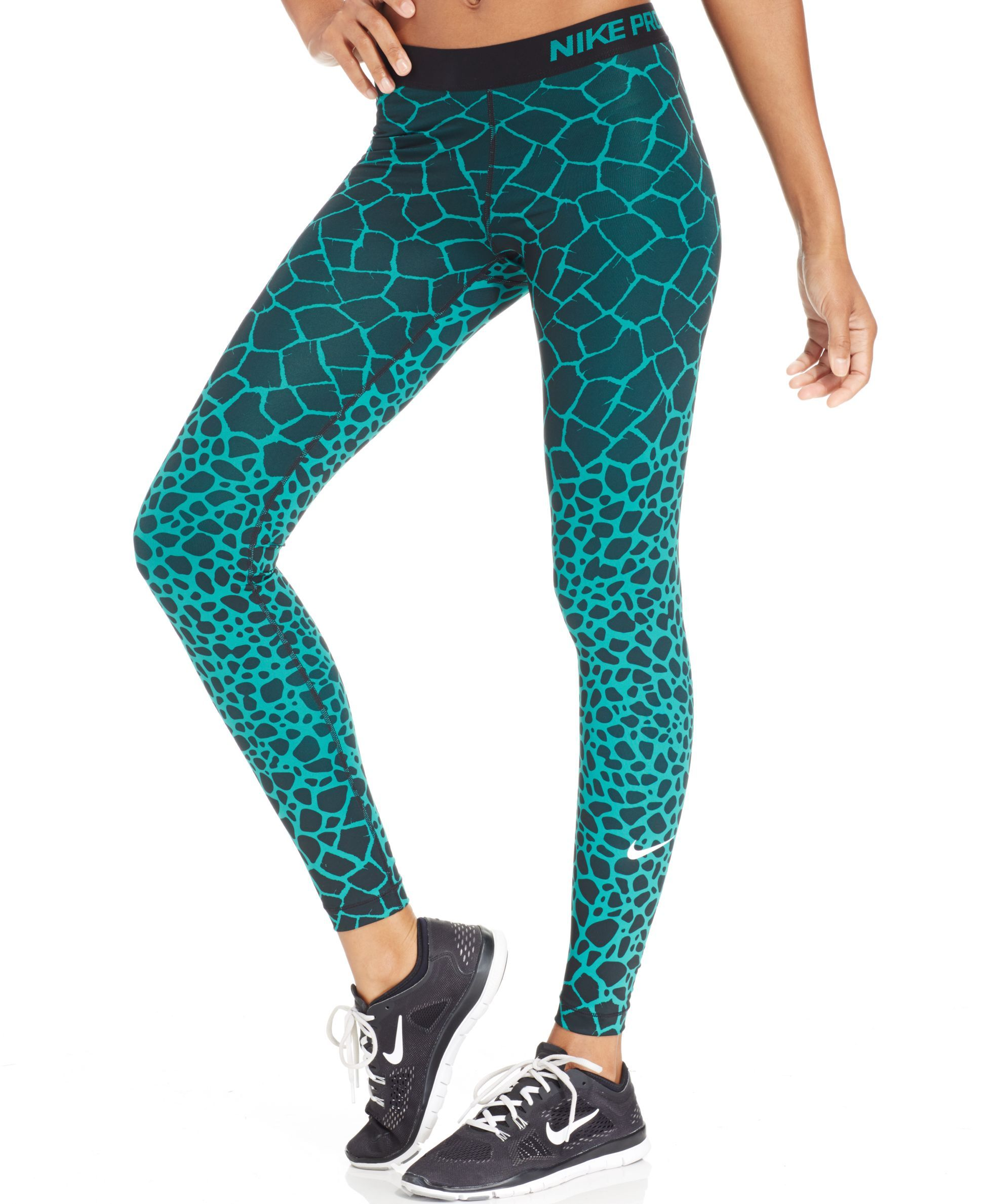 df538e6974f Nike Pro Engineered Dri-FIT Giraffe-Print Leggings - Pants   Capris - Women  - Macy s