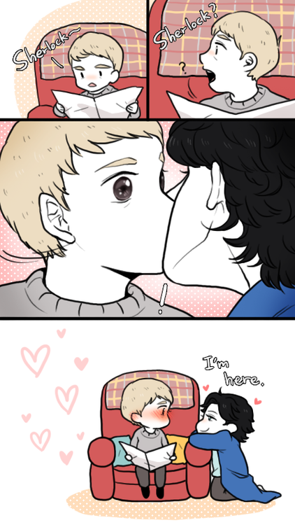 Even though I hate when people say Sherlock and John have a sexual relationship. I can't get over how cute this is! <3