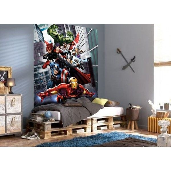 Fresque murale Avengers Flight Papier Peint Poster Géant | Déco ...