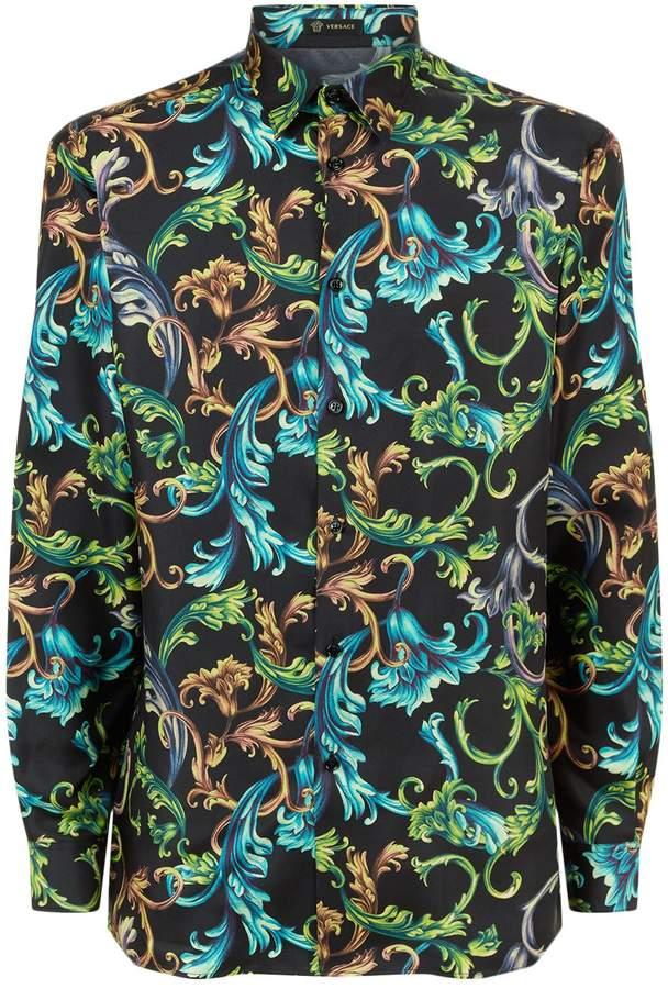 Versace Silk Baroque Shirt Versace Pour Hommes, Veste Imprimée, Baroque,  Harrods e57bc7bbf3f