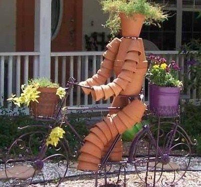 cr ations personnages en pots de fleurs personnage en pot de fleurs pinterest pots. Black Bedroom Furniture Sets. Home Design Ideas
