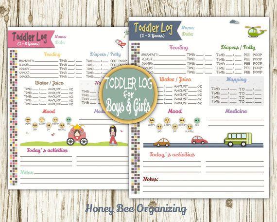 Toddler Log Printable Nanny Log Babysitter Report Caregiver Tracker Childcare Daily Log Toddler S Schedule Nanny Chart 8 5x11 Toddler Schedule Nanny Log Babysitter