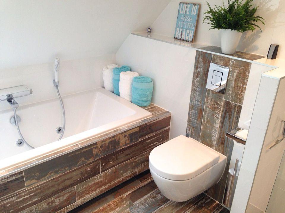 Houtlook badkamer - Kleine badkamer | Pinterest - Badkamer, Kleine ...