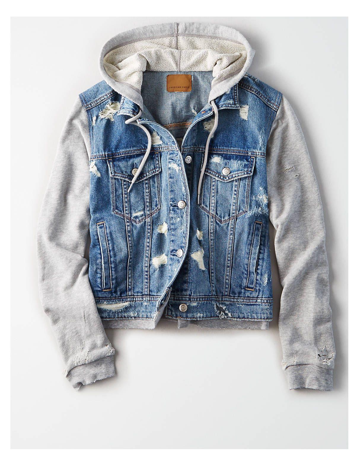 NWT Womens The Limited Dark Wash Blue Denim Jean Jacket Coat Size S Small