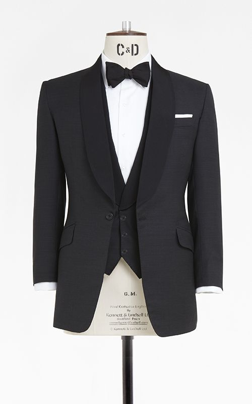 Single breasted three piece dinner suit, made up in a @dugdalebros ...