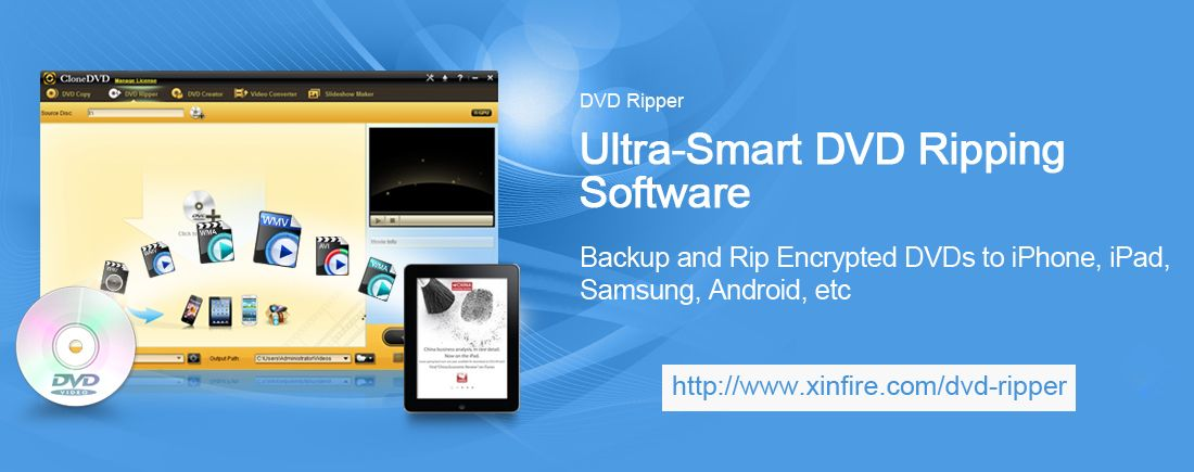 Xinfire DVD Ripper Ultimate is a professional DVD Ripping