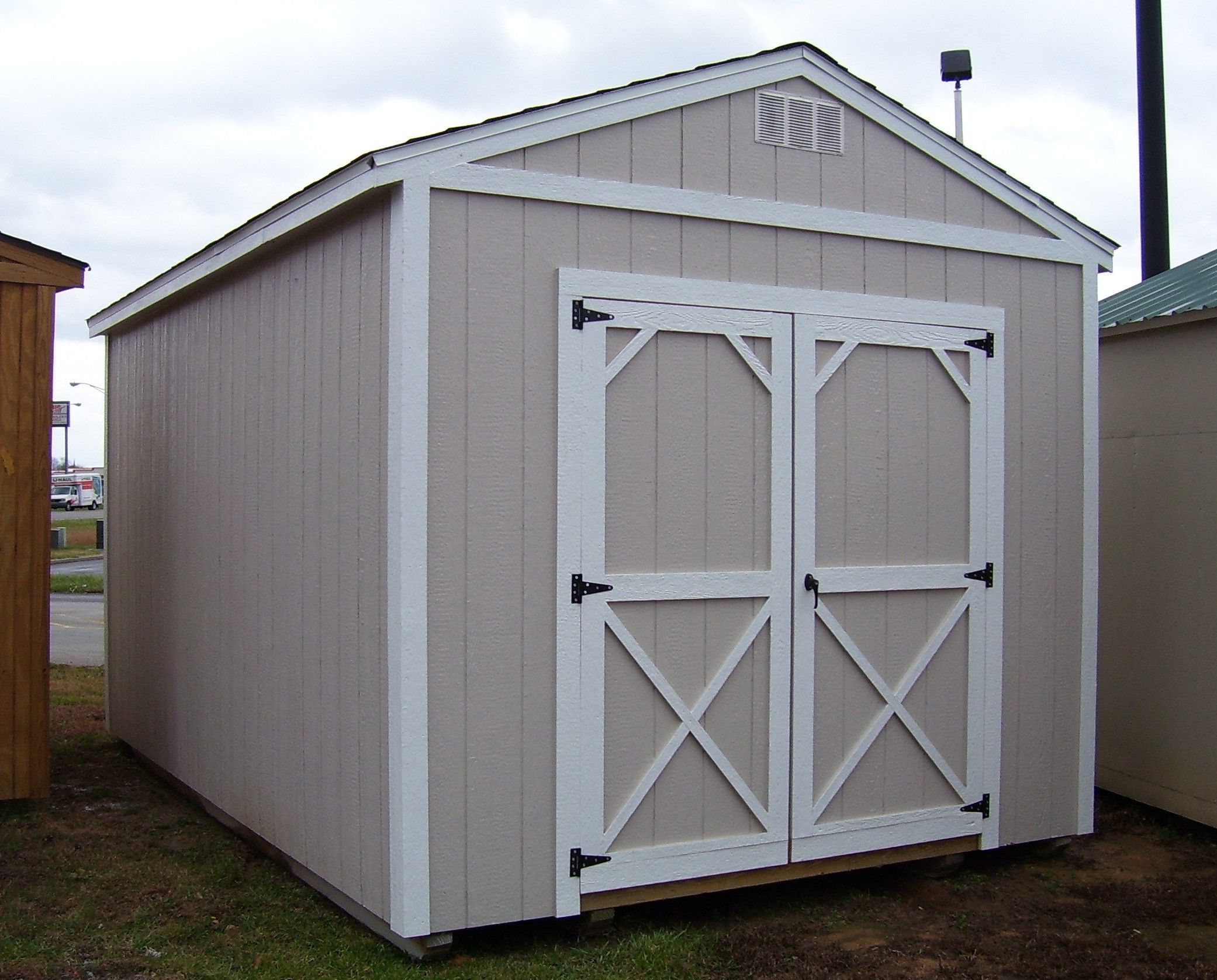 Utility Sheds | the painted wood utility from dura built would look great in . & Utility Sheds | the painted wood utility from dura built would ...