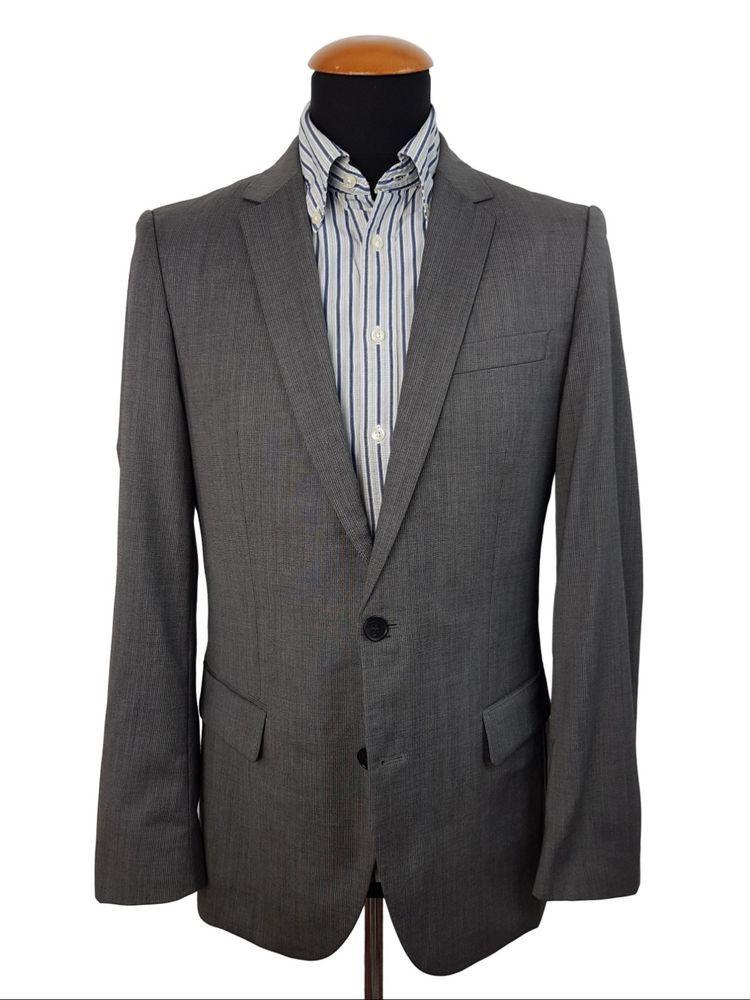 461d2d0e Hugo Boss Amaro/Heise Men's Blazer Gr. 46 Grau Wool Jacket size 36R ...