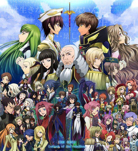 Code Geass Group Folding Fan Anime Manga NEW