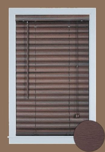 Mini Window Blind 2 Slat Vinyl Embossed Woodgrain Blinds Mahogany 30 X 64 Brown Vinyl Blinds Vinyl Mini Blinds Blinds For Windows