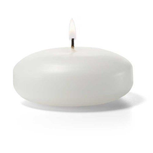 3 White Floating Candles 72pcs Bulk Candles Floating Candles