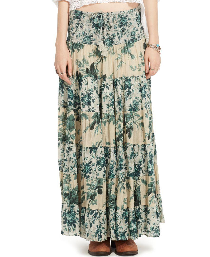 331cc91038 Denim & Supply Ralph Lauren Floral-Print Tiered Maxi Skirt ...