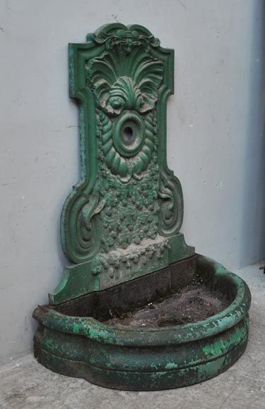 Attractive Antique Cast Iron Fountain From The 19th Century. This Antique Garden  Fountain Was Made Out Of Painted Cast Iron During The 19th Century.