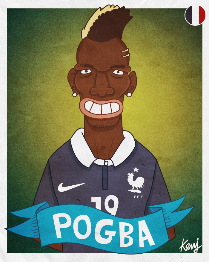 Fifa World Cup 2014 Teams Caricatures