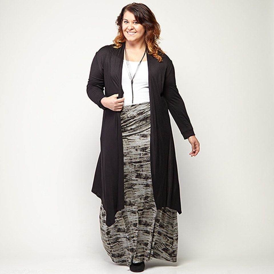 Take a look at the black to white plussize apparel event on zulily