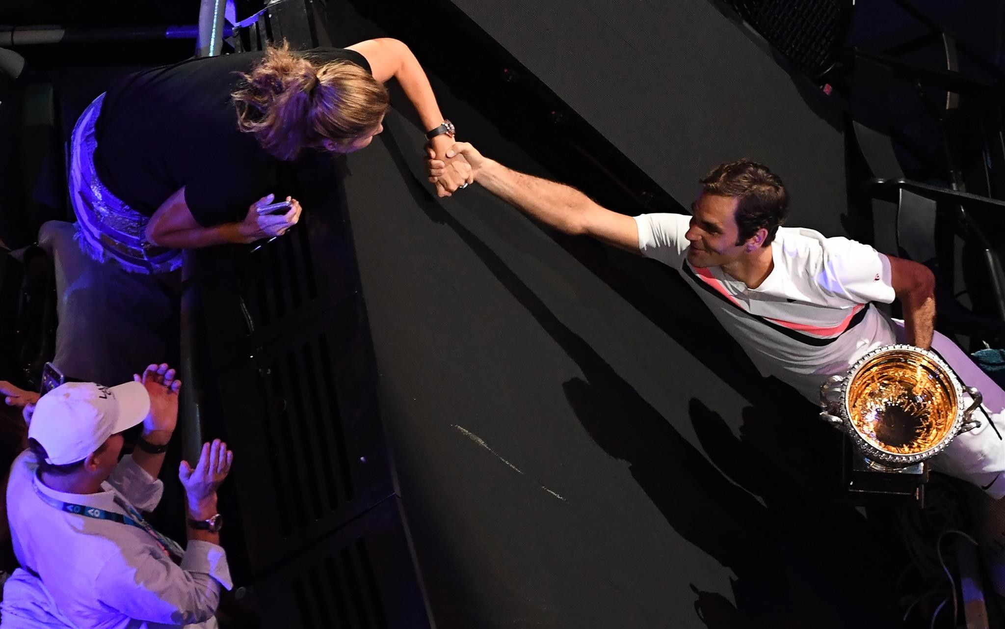 """Roger on Mirka: """"Without her support, I wouldn't be playing tennis no more since many years. I'm happy that she's super supportive, and she's willing to take on a massive workload with the kiddies... This life wouldn't work if she said no."""" #RelationshipGoals #AusOpen Roger Federer"""