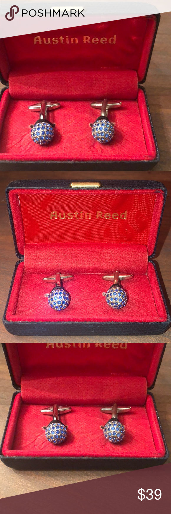 Austin Reed Cuff Links Austin Reed Blue Stone Cufflinks