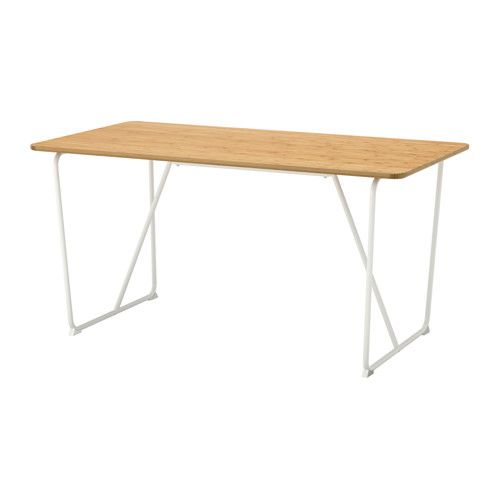 IKEA   ÖVRARYD, Table, Backaryd White, , Table Top Made Of Bamboo,