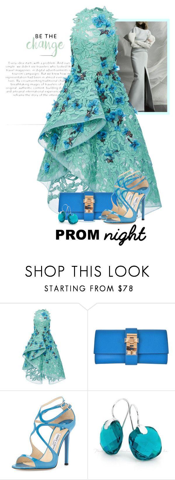 """Lace Dress!"" by flippintickledinc ❤ liked on Polyvore featuring Zac Posen, Hermès, Jimmy Choo and PROMNIGHT"