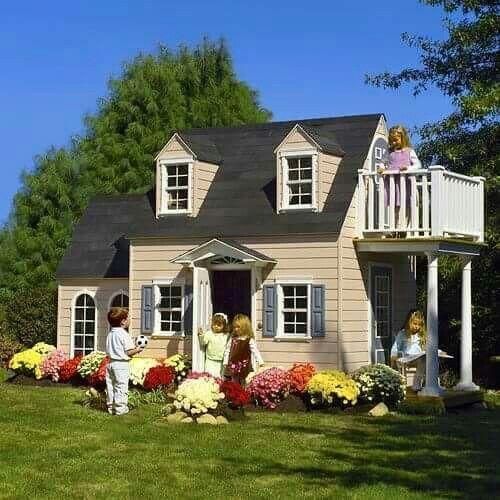 Casa de madera para niños. Casa de juegos para niñas | Baby time ...