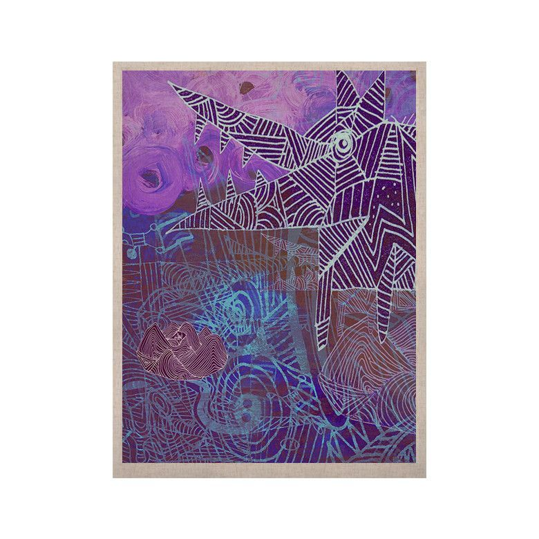 """Marianna Tankelevich """"Abstract With Wolf"""" Purple Illustration KESS Naturals Canvas (Frame not Included)"""